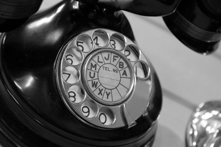'Old telephone' found at https://flic.kr/p/4cRwCm by macinate (https://flickr.com/people/macinate) used under Creative Commons Attribution License (http://creativecommons.org/licenses/by/2.0/)