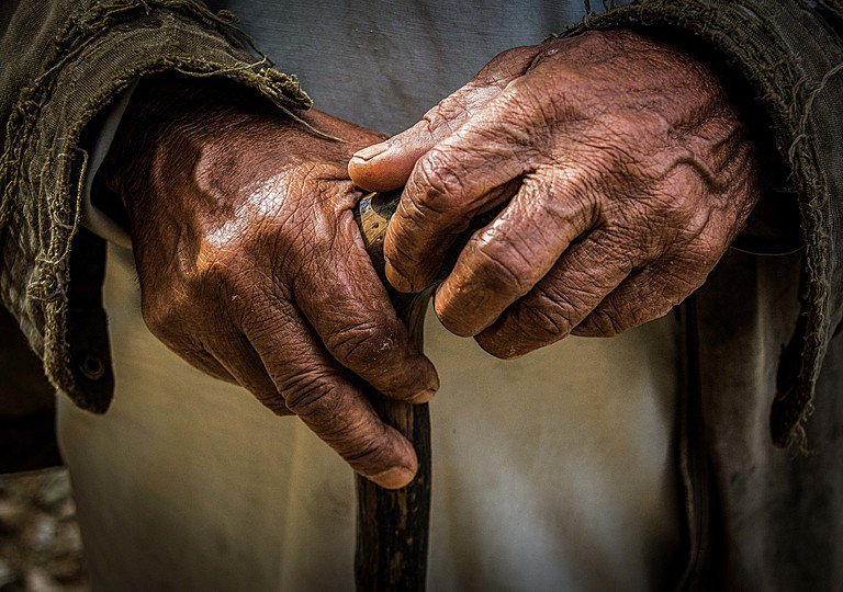 'Old Hands' found at https://flic.kr/p/eY7w5r by Sharada Prasad (https://flickr.com/people/sharadaprasad) used under Creative Commons Attribution License (http://creativecommons.org/licenses/by/2.0/)
