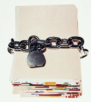 Data Security - photo of locked files