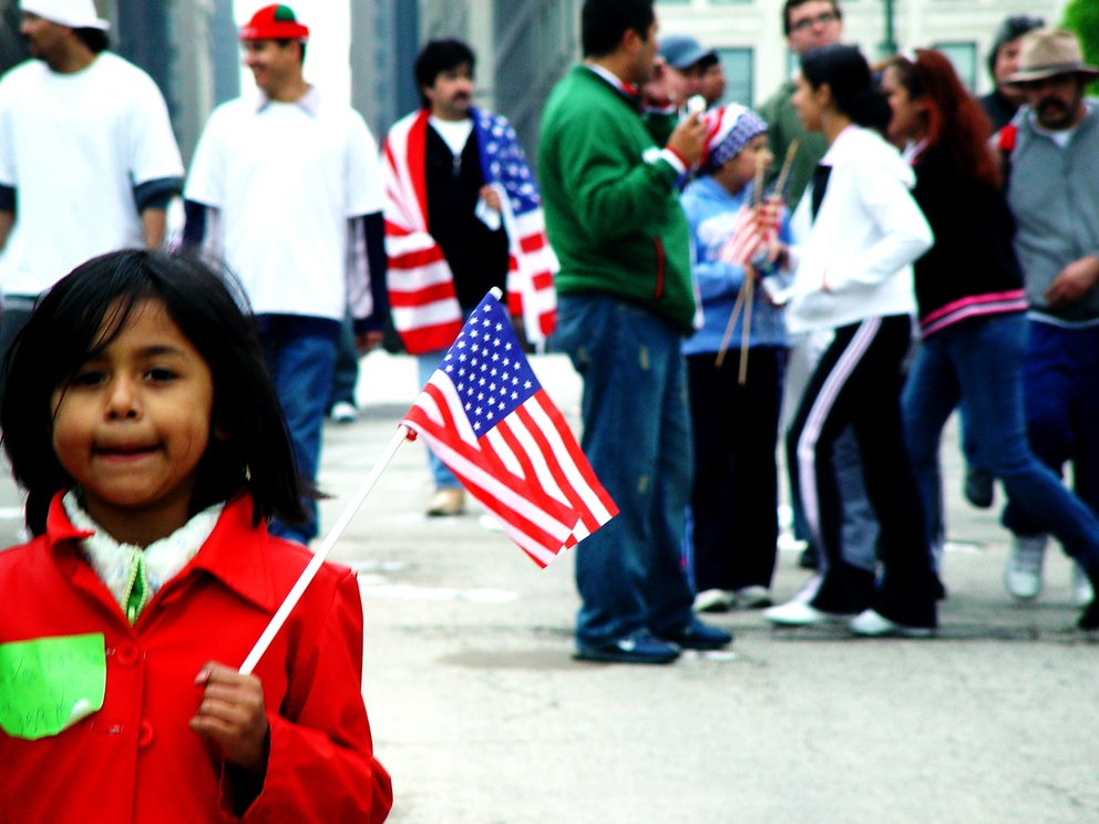 'Chicago Immigration Protest May 1, 2006' found at https://flic.kr/p/df8WC by jvoves (https://flickr.com/people/jvoves) used under Creative Commons Attribution License (http://creativecommons.org/licenses/by/2.0/)