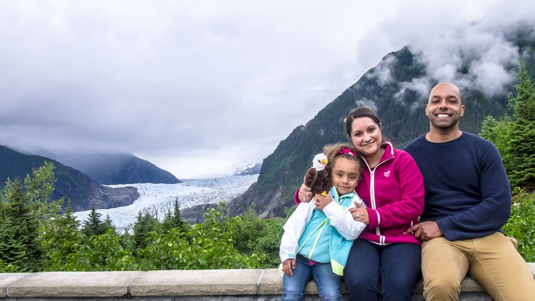 'Family - Mendenhall Glacier, Alaska' found at https://flic.kr/p/uvHfAU by Ian D. Keating (https://flickr.com/people/ian-arlett) used under Creative Commons Attribution License (http://creativecommons.org/licenses/by/2.0/)