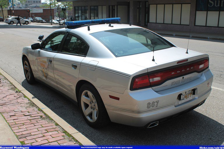 'OSHP #867 Dodge Charger' found at https://flic.kr/p/oj2dtE by Seluryar (https://flickr.com/people/cak757) used under Creative Commons Attribution-ShareAlike License (http://creativecommons.org/licenses/by-sa/2.0/)