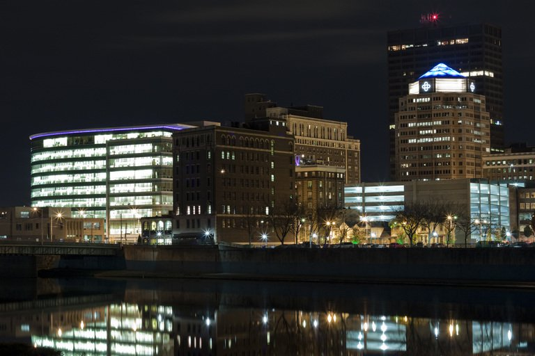'Downtown Dayton, OH' found at https://flic.kr/p/AGSAjL by JGM Images (https://flickr.com/people/null) used under Creative Commons Attribution-NoDerivs License (http://creativecommons.org/licenses/by-nd/2.0/)